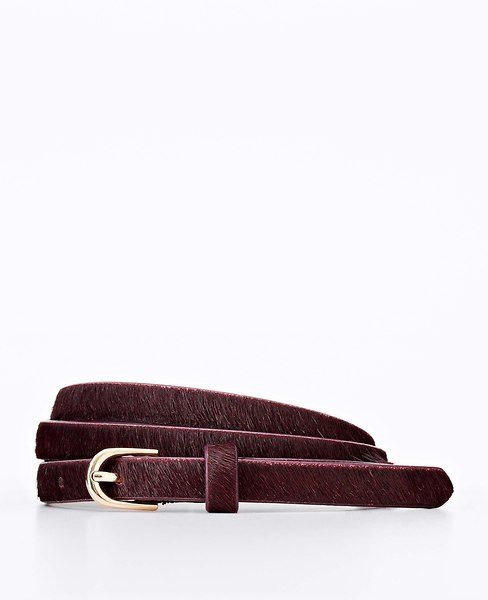 Perfect Haircalf Skinny Belt | Ann Taylor
