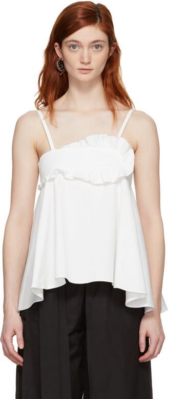 tank top top white cotton