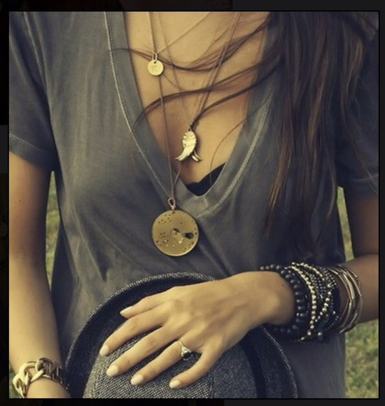 distressed shirt gray v-neck gray t-shirt
