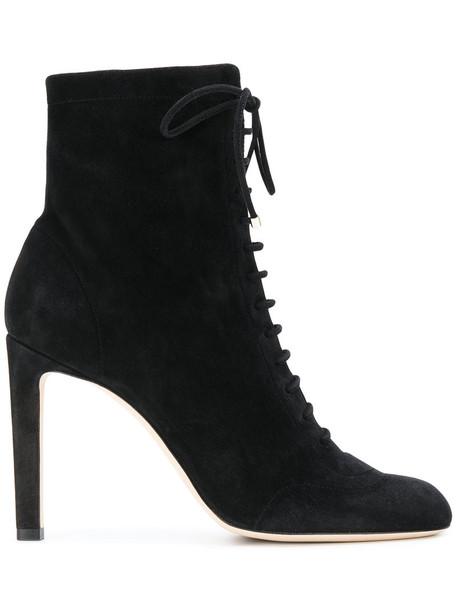 Jimmy Choo women leather suede black shoes