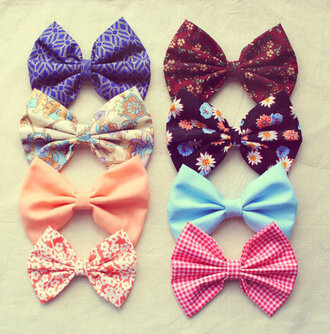 jewels hair bow bow bowtie cute swag girly pink black hat hair accessory accessory bows colorful patterns pretty colorful floral bowties top different colors different materials nice and cute patterns