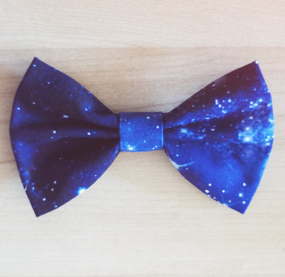 Star Constellation Outer Space Hair Bow / Bow by littlehoneypies