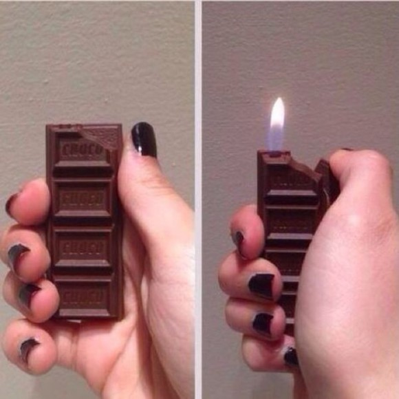 lighter jewels smoke fire chocolate hershey chocolate bar,