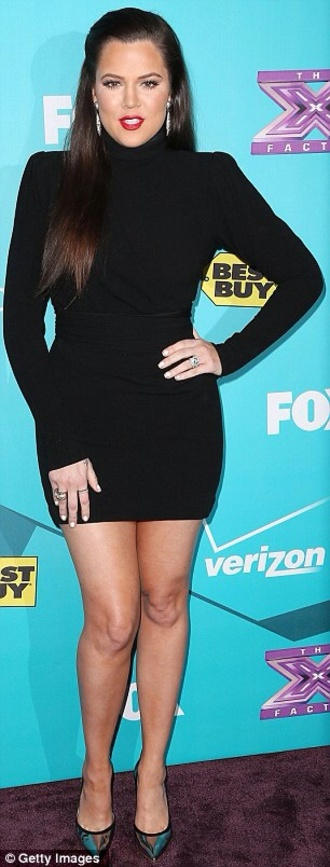 dress khloe kardashian little black dress black gorgeous curvy