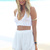 White Shorts - White High-Waisted Frill Shorts | UsTrendy