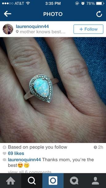 jewels rings cute summer blue rings diamonds beautiful girly