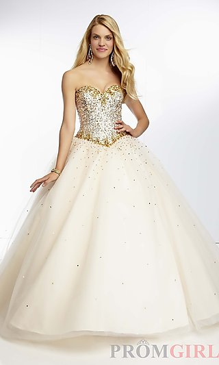 Prom Dresses, Celebrity Dresses, Sexy Evening Gowns - PromGirl: Full Length Sweetheart Ball Gown