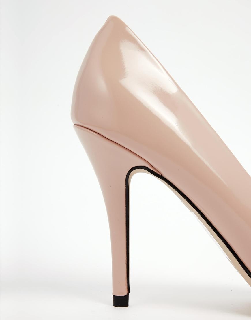 ALDO Ocaria Nude Heeled Court Shoes at asos.com