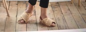 shoes,brown,sandals,beach,straw,frayed,summer