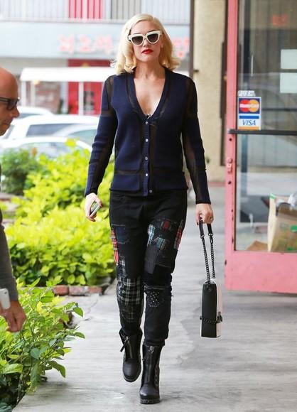 pants fall outfits gwen stefani boots bag