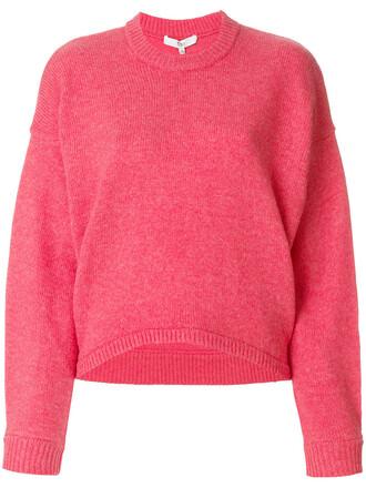 pullover oversized women wool purple pink sweater