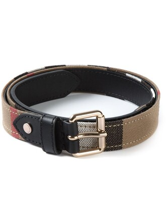 women belt leather cotton black