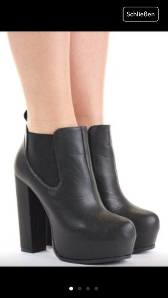 shoes ankle boots chelsea boots plateau shoes black boots