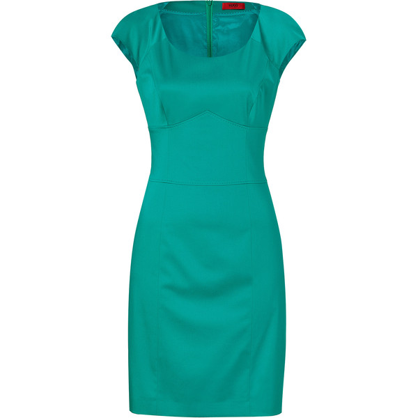 HUGO Bright Green Cotton Stretch Kilena Dress - Polyvore