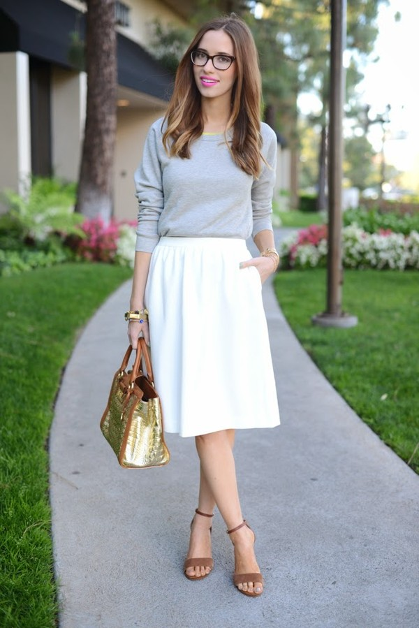 m loves m sweater skirt shoes bag jewels