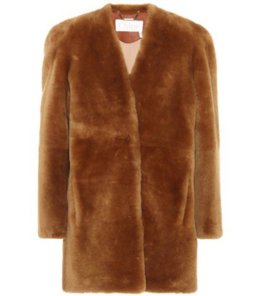 Chloe coat brown