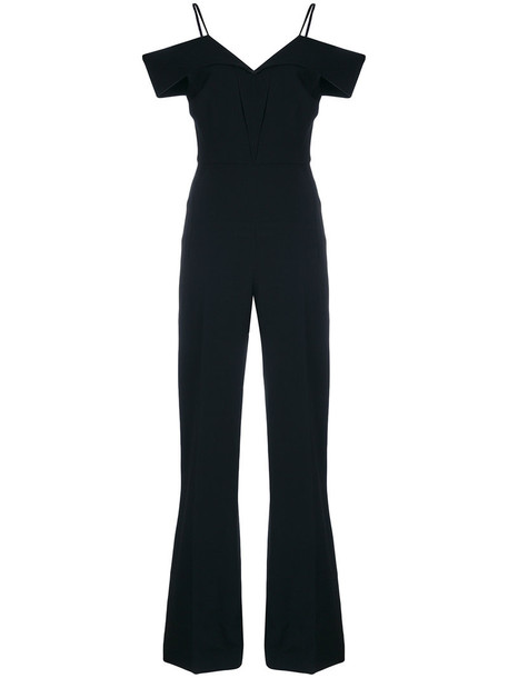 Roland Mouret jumpsuit women spandex black silk