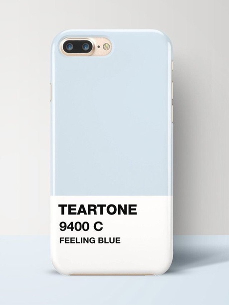 phone cover light blue