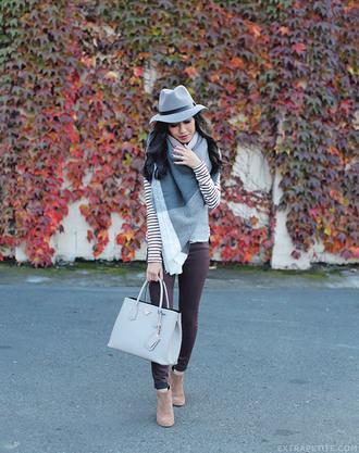 extra petite blogger fedora blanket scarf