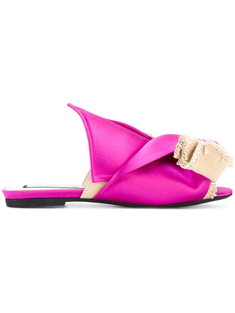 open women sandals leather cotton purple pink satin shoes