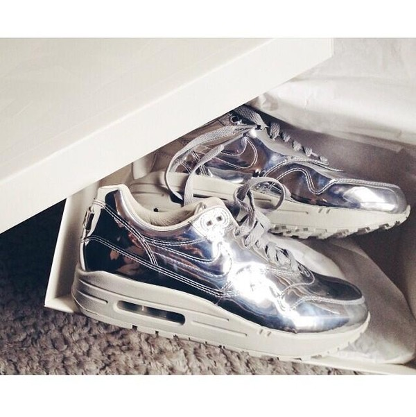 shoes nike silver nike air force air max