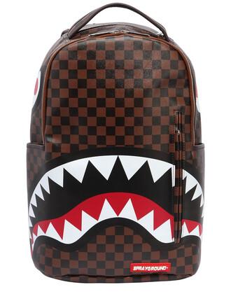 paris shark backpack leather backpack leather multicolor bag