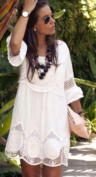 dress boho chic mini dress