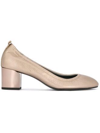 heel pumps metallic shoes