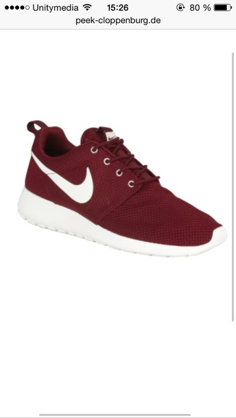 shoes nike dark red nike roshe run burgandy roshes