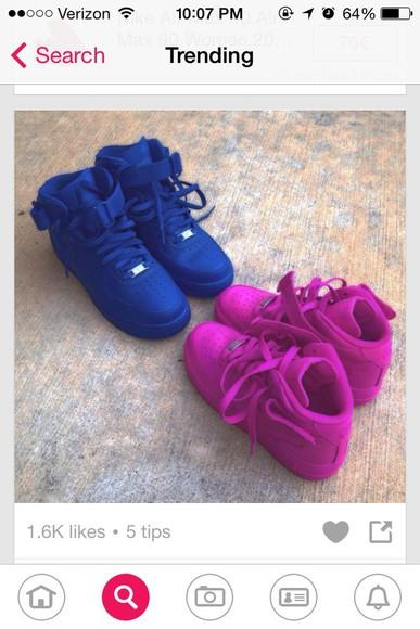 pink shoes pink air force ones nike air purple purple shoes nike sneakers
