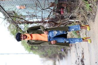 skinny hipster blogger make-up sweater jeans jacket shoes