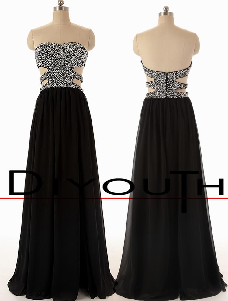 Backless Black Prom Dresses 115