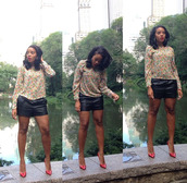 top,shorts,Angela Simmons