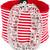 Alessandra Rich - maxi buckle belt - women - Cotton/Polyester/Spandex/Elastane - 80, Women's, Red, Cotton/Polyester/Spandex/Elastane