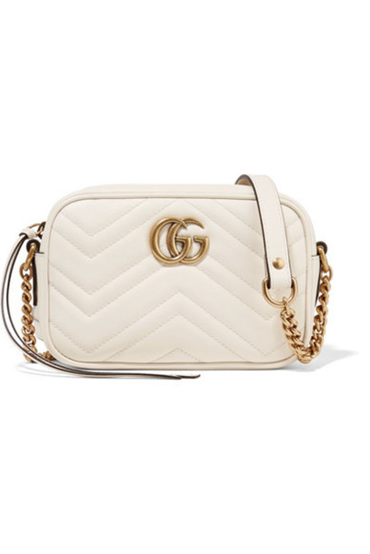 6ee4c3508 Gucci - Gg Marmont Camera Mini Quilted Leather Shoulder Bag - Cream ...