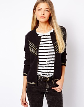 ASOS | ASOS Knitted Jacket with Embellishment at ASOS
