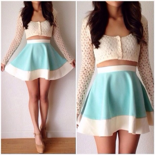 Skirt: shirt, shoes, sweater, dress, pastel, t-shirt, pale, petite ...