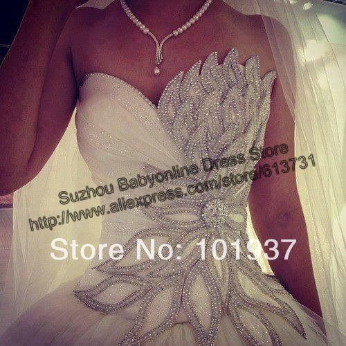 2014 New Arrival Illusion Sweetheart A Line Tulle Beaded Sequined Wedding Dresses Bridal Gown Vestidos De Novia Free Shipping -in Wedding Dresses from Apparel & Accessories on Aliexpress.com