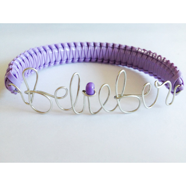 Do you believe? BELIEBER Justin Bieber Wire Wrapped Cobra Br... - Polyvore