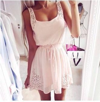 dress pretty love dress pink dress nude dress cute dress