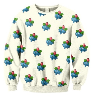 sweater pokemon white sweater cute