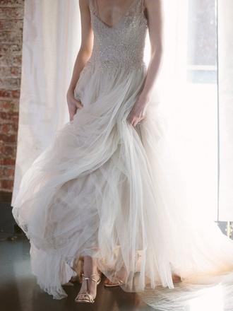 dress white dress wedding wedding dress white clothes wedding clothes v neck dress sparkly dress shoes wedding shoes