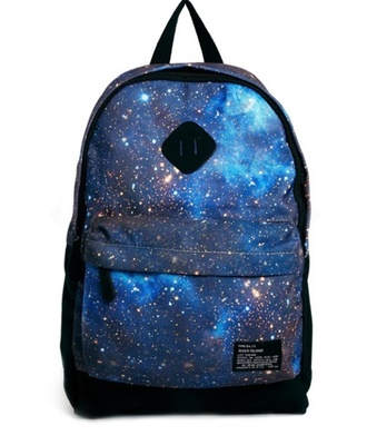 bag bookbag back to school galaxy print trendy hipster