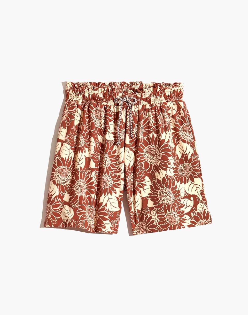 Women's Madewell Second Wave Board Shorts in Sunflower Season