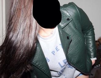 jacket leather jacket leather green jacket green leather jacket