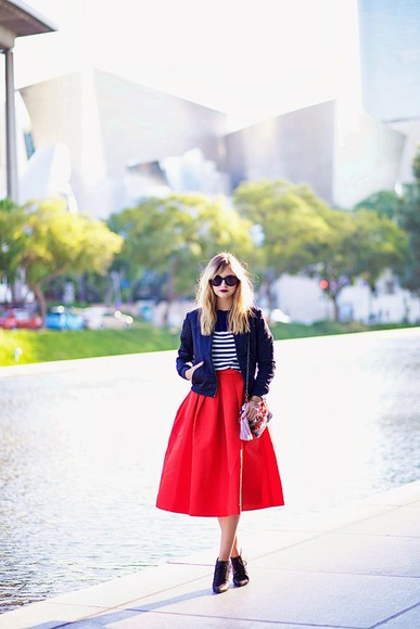sunglasses sweater shoes bag skirt jewels jacket late afternoon