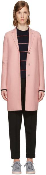 coat wool pink