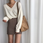 sweater,white,ahite and black,white dress,white top,white sweater,cute,cute dress,cute outfits,cute top,tumblr,tumblr outfit,instagram,back to school,skirt,plaid
