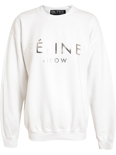 Brian Lichtenberg Unisex Charcoal Cotton 'feline' Sweatshirt - Browns - Farfetch.com
