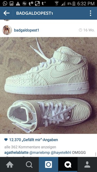 shoes nike air force 1 python python print white sneakers